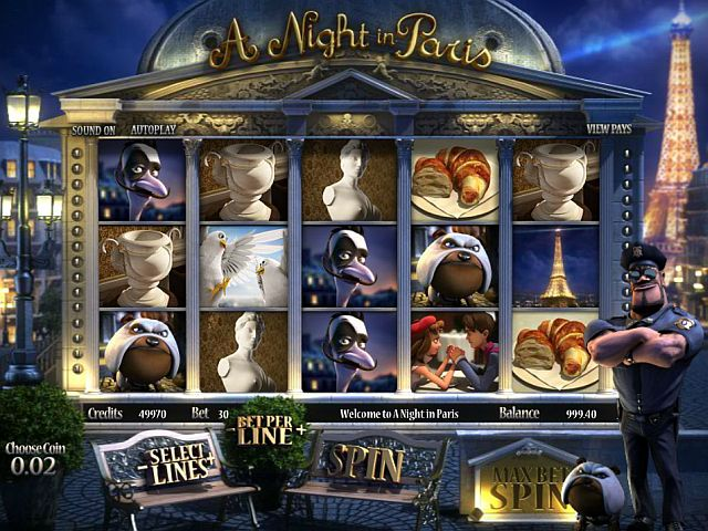 A Night in Paris Casino Spiel
