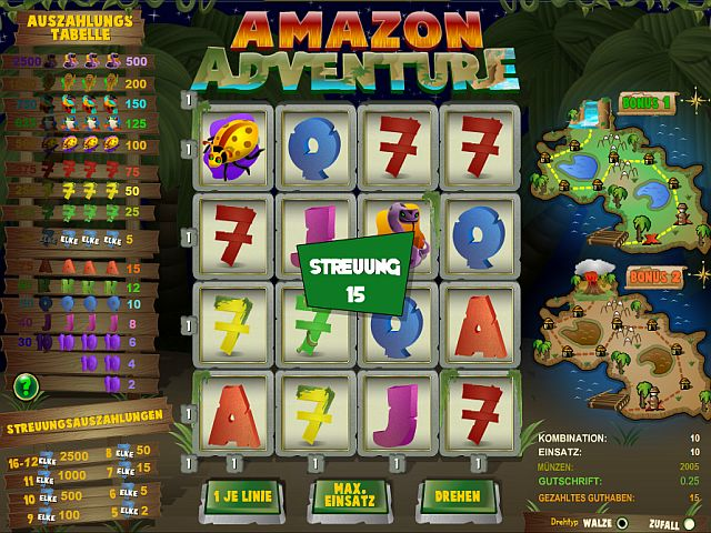 Amazon Adventure Casino Spiel