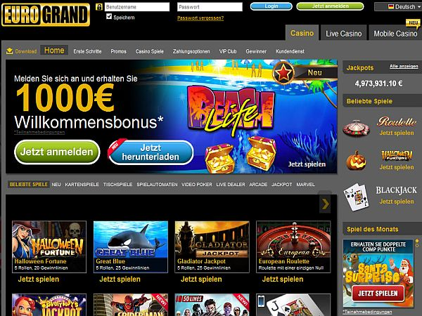 Blackjack Bonus Eurogrand