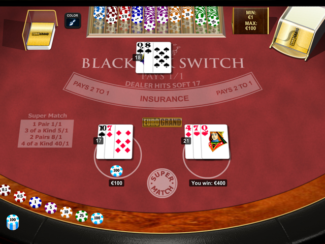 blackjack switch im eurogrand casino spielen
