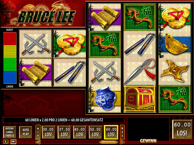 Bruce Lee slot - spil gratis online casino version