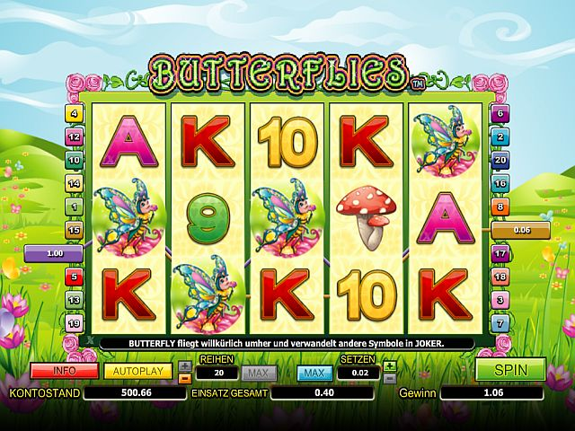 butterflies casino