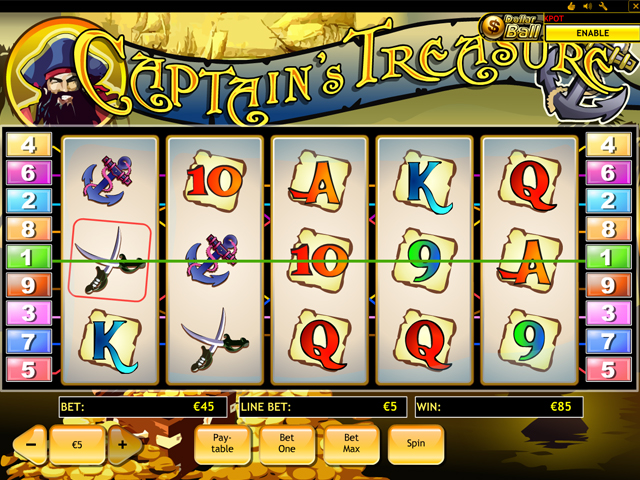 captains treasure automatenspiel im eurogrand casino