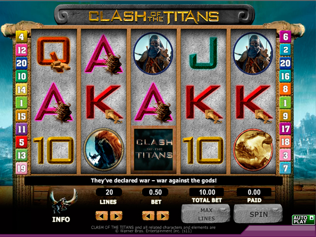 Clash of the Titans slot - spil online versionen gratis