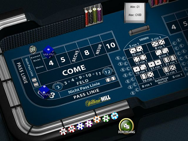 Craps bei William Hill spielen