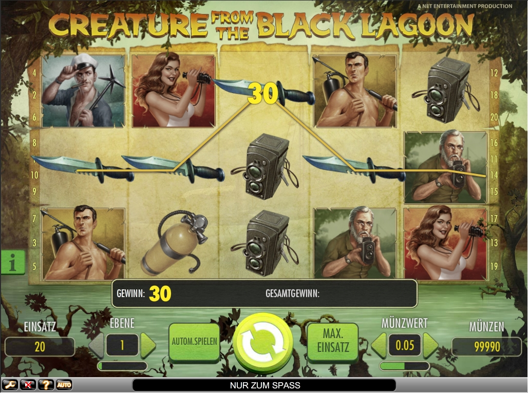 creature from the black lagoon spielen