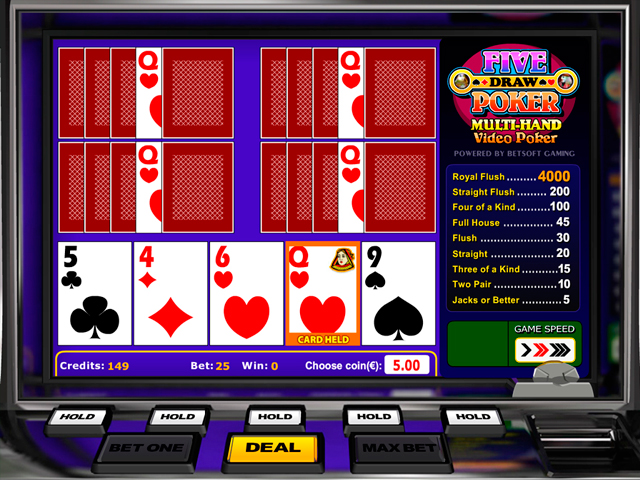 five-draw-videopoker