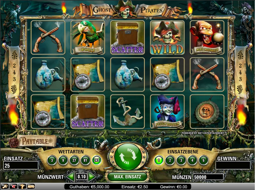 ghost pirates spielen