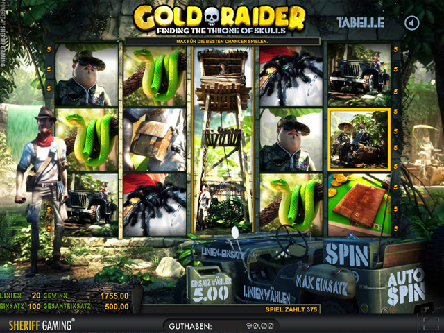 gold  raider online slot in 3d