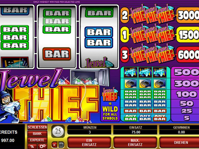 jewel thief online slot im spinpalace casino