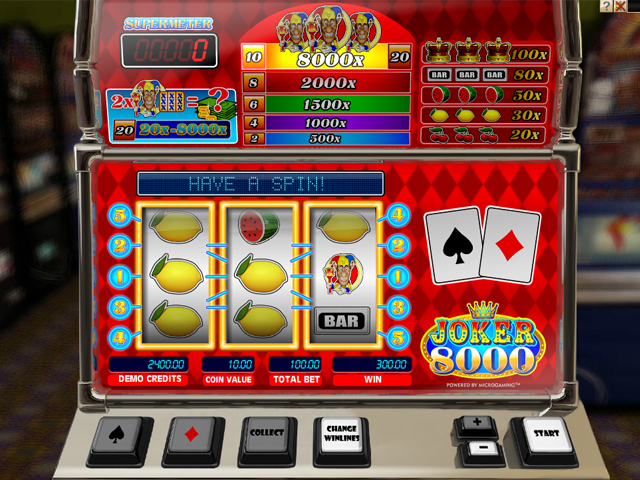 joker 8000 automatenspiel im mr green casino