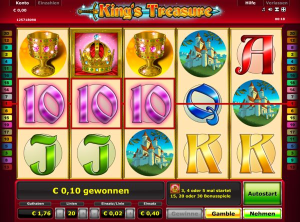 kings treasure online spielen