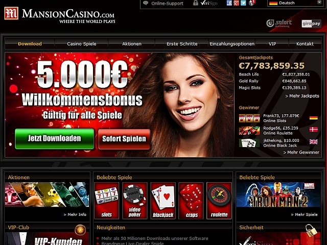 mansion online casino jetst spielen