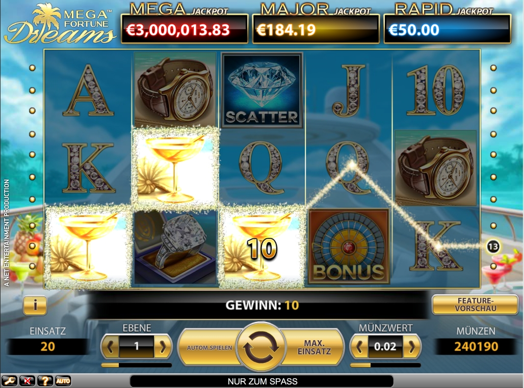 mega fortune dreams online casino