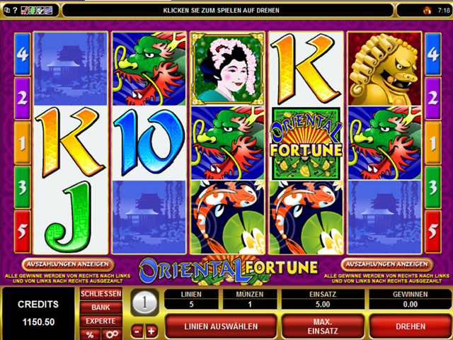 oriental fortune online slot im spinpalace casino