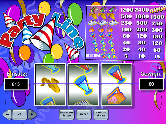 party line online slot im winner casino