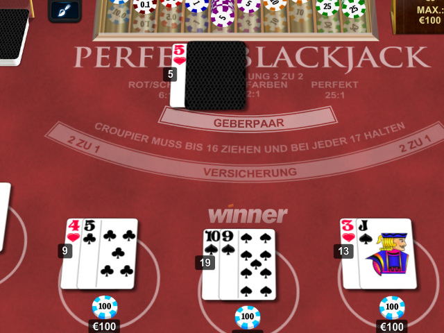 perfekt blackjack im winner casino spielen