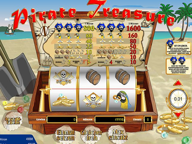 Pirate Treasure Jackpot Spielautomat