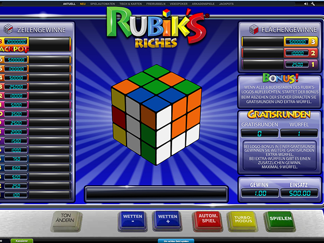 rubiks riches automatenspiel im winner casino