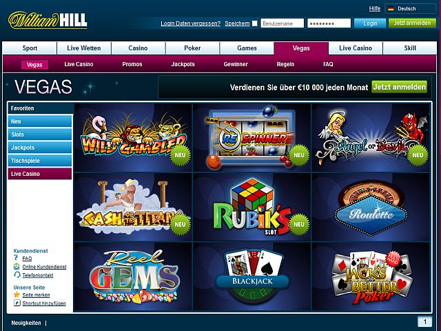 online william hill casino jezt spielen