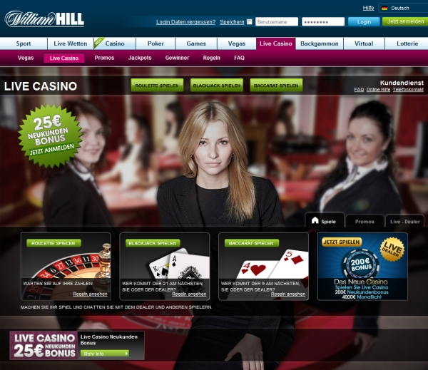 WilliamHill Online Spielcasino