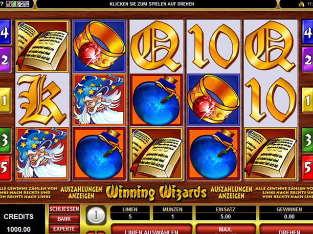 winning wizards online slot im spinpalace casino